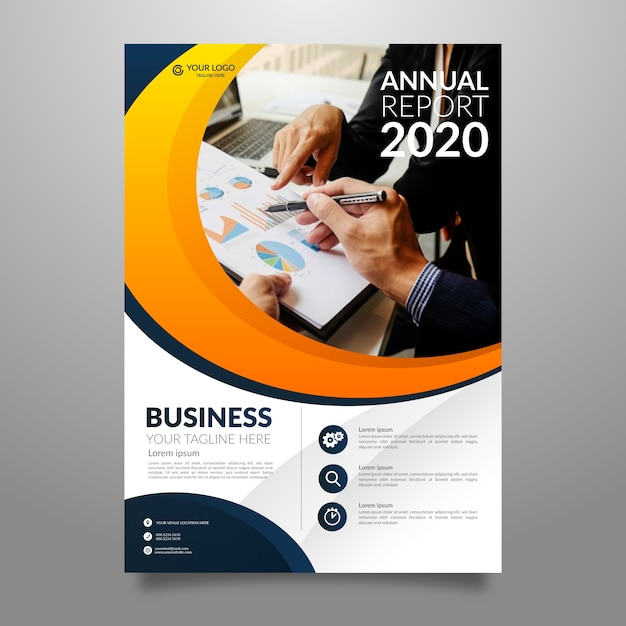 Brochure commerciale annuelle contemporaine Vecteur gratuit