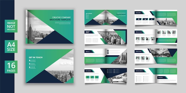 Brochure Commerciale Ou Catalogue De Pages Paysage Vecteur Premium