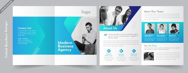 Brochure commerciale à deux volets Vecteur Premium