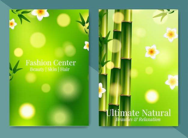 Brochure de conception spa et santé minimaliste. Vecteur Premium