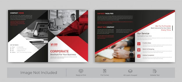 Brochure corporative double Vecteur Premium