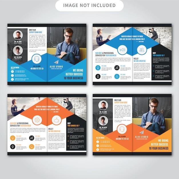 Brochure corporative double Vecteur Premium