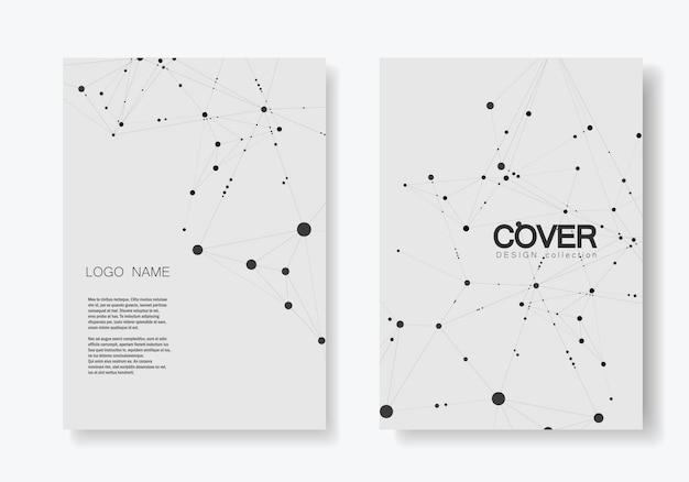 Brochure De Couverture Moderne Avec Technologique Vecteur Premium