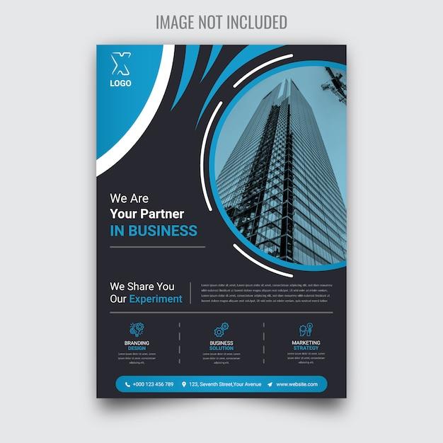 Brochure de création d'entreprise Vecteur Premium