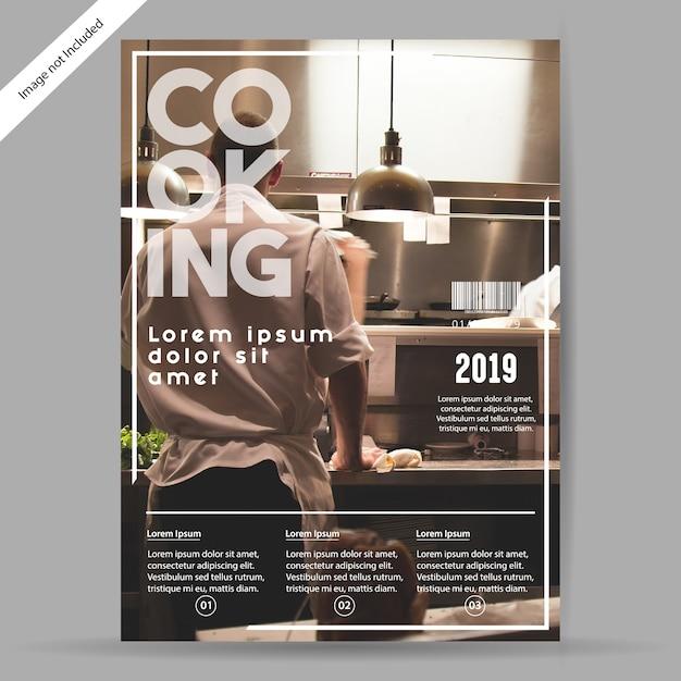 Brochure Culinaire / Flyer Vecteur Premium