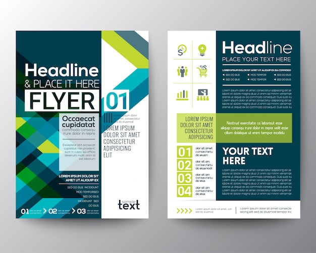brochure d u0026 39 affaires mod u00e8le de mise en page de conception de prospectus avec un fond de forme