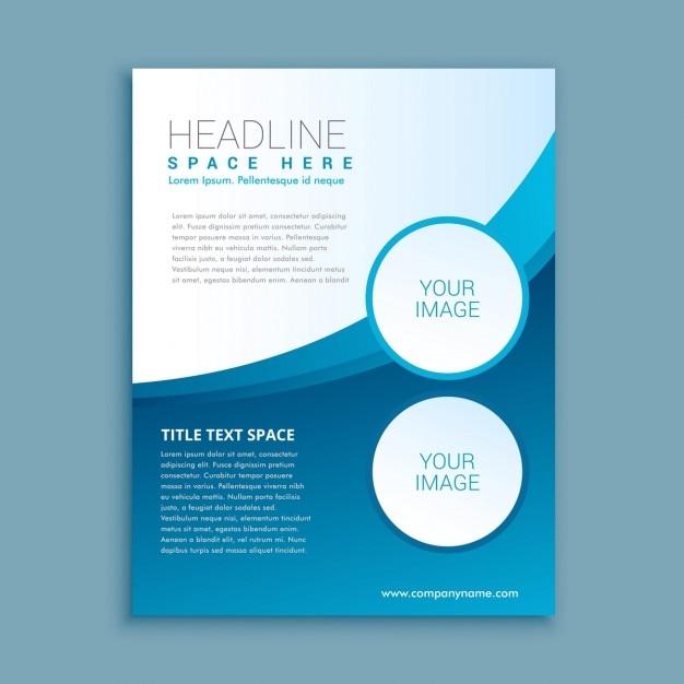 Bevorzugt Brochure d'entreprise ou d'un modèle de conception flyer  ZW06