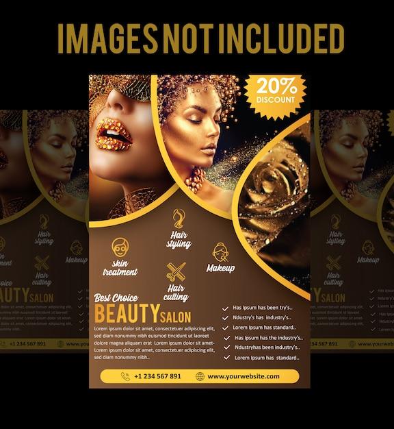 Brochure ou dépliant de salon Vecteur Premium