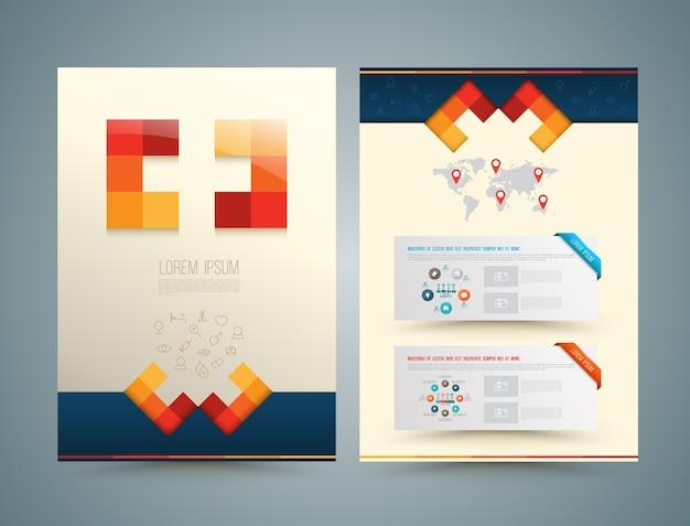 Brochure ou dépliant style médical de conception Vecteur Premium