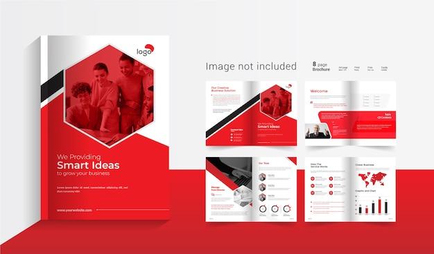 Brochure D'entreprise De 08 Pages Vecteur Premium