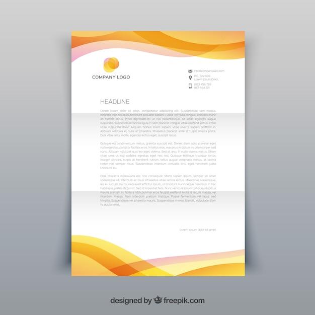 Brochure d'entreprise, couleur jaune Vecteur gratuit