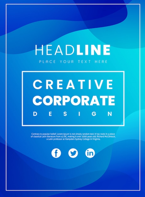 Brochure d'entreprise créative Vecteur Premium