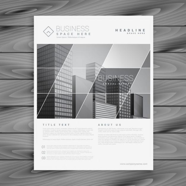 Brochure D Entreprise De L Entreprise Modele De Presentation Flyer Vecteur Gratuite