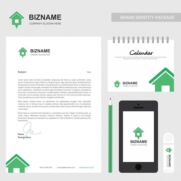 Brochure d'entreprise avec logo et design élégant Vecteur Premium