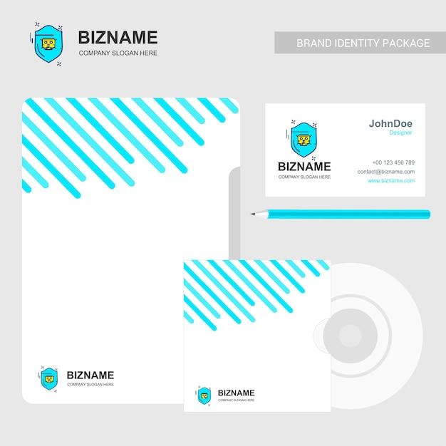 Brochure d'entreprise avec logo de l'entreprise et design élégant Vecteur Premium