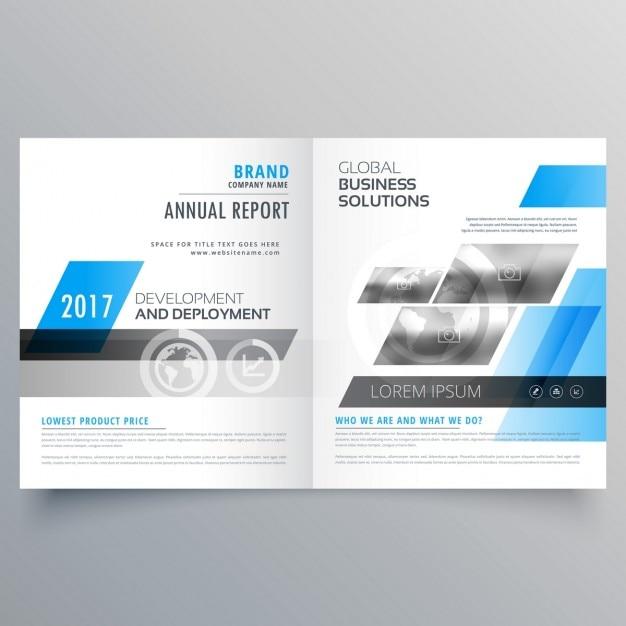 Brochure de l'entreprise moderne modèle bifold mise en page pour votre marque d'affaires Vecteur gratuit
