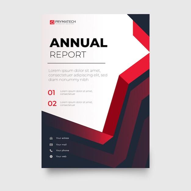Brochure entreprise rouge moderne avec des formes abstraites Vecteur gratuit