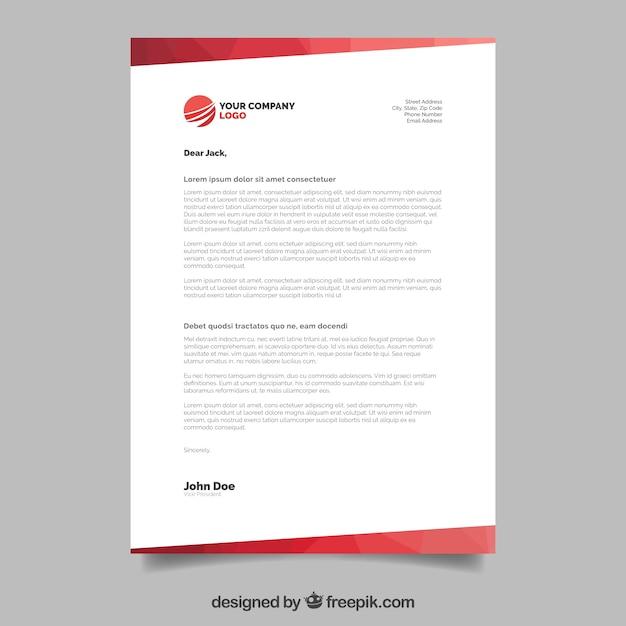 Brochure d'entreprise, style géométrique avec formes rouges Vecteur gratuit
