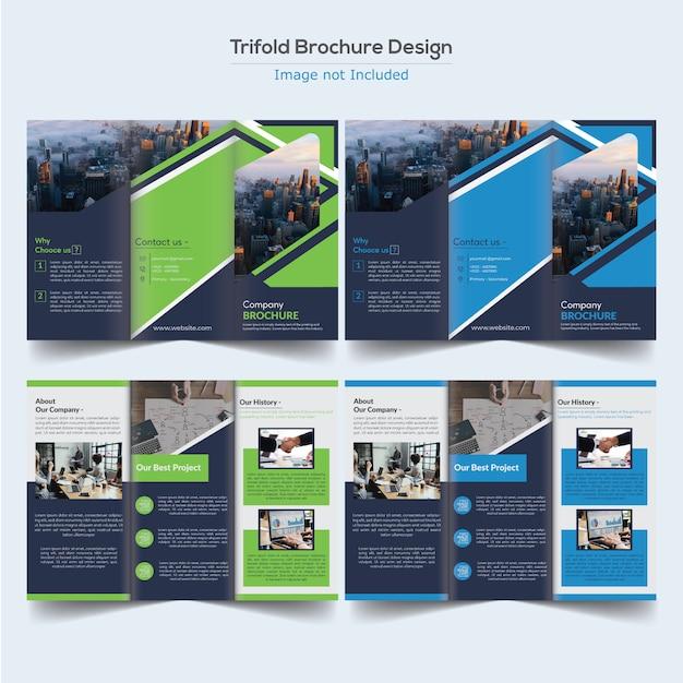 Brochure d'entreprise à trois volets Vecteur Premium