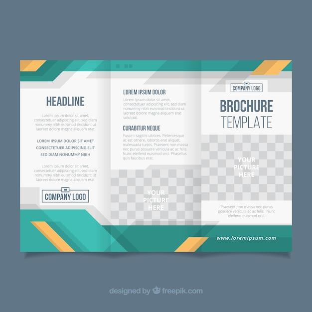 Brochure d'entreprise à trois volets Vecteur gratuit