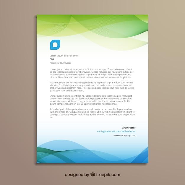 Brochure D'entreprise Verte Et Bleue Aux Formes Ondulées Vecteur gratuit
