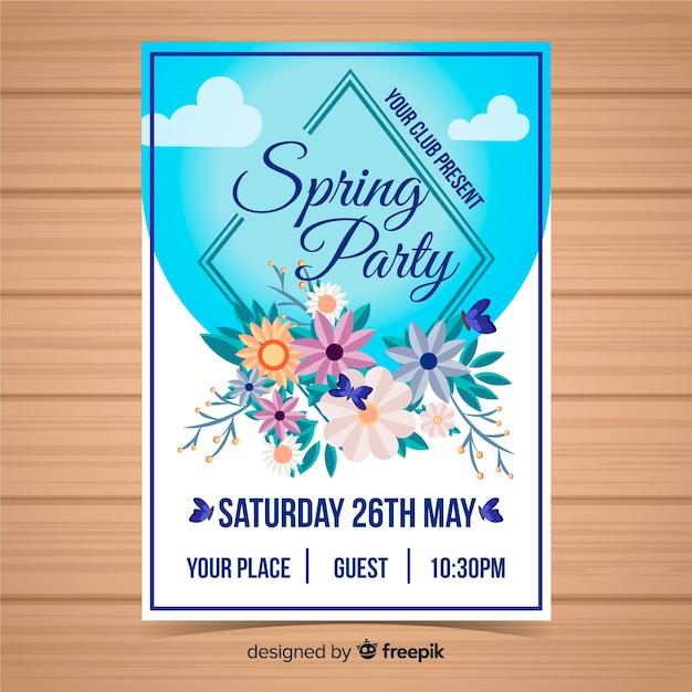 Brochure fête de printemps Vecteur gratuit