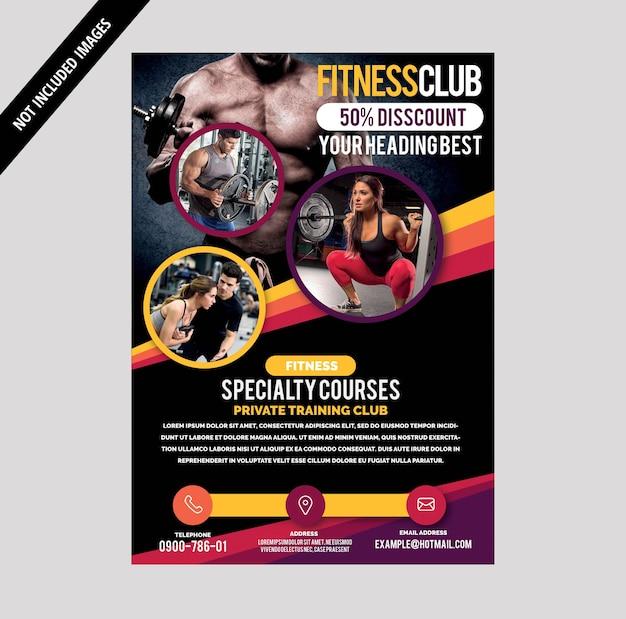 Brochure de gym Vecteur Premium