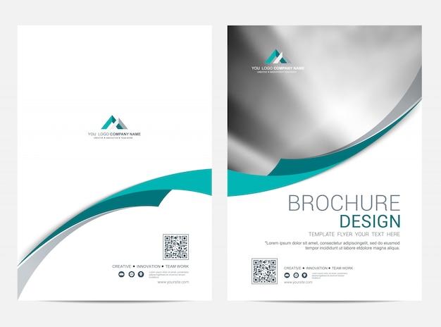 Brochure modèle flyer design fond de vecteur Vecteur Premium