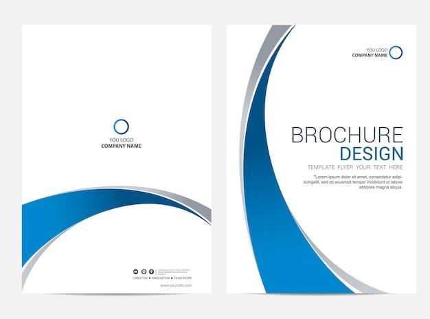 Brochure modèle flyer design vecteur de fond Vecteur Premium