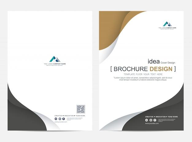 Brochure Ou Modèle De Mise En Page De Dépliant, Arrière-plan De Conception De Couverture De Rapport Annuel Vecteur Premium