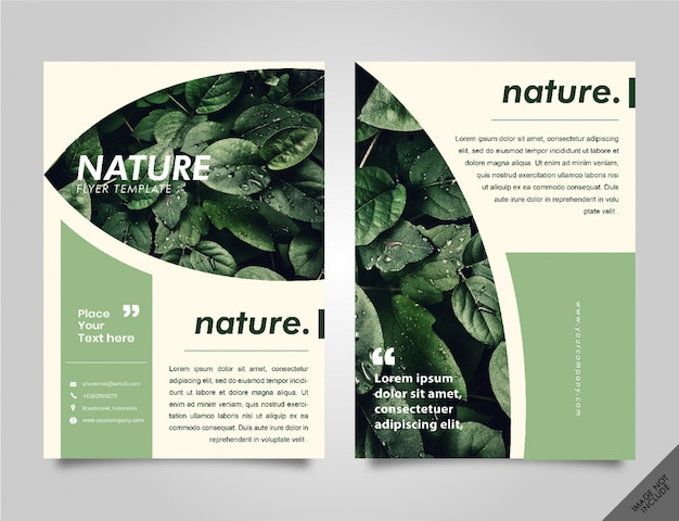 Brochure Nature Lookbook Vecteur Premium