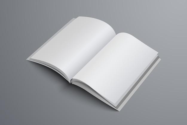 Brochure Ouverte Au Milieu De La Page. Catalogue Modèle A4 Ou A5 Réaliste Vecteur Premium