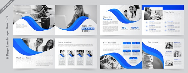 Brochure paysage entreprise Vecteur Premium