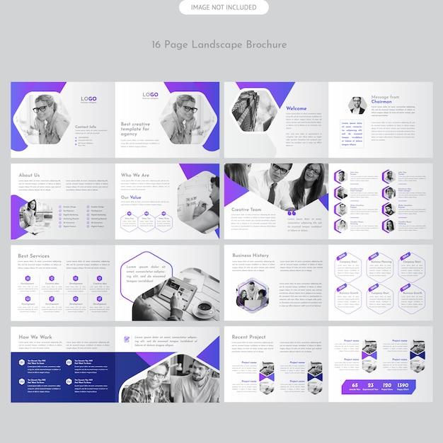 Brochure paysage Vecteur Premium