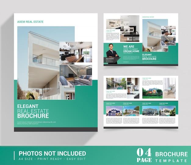 Brochure Pliante Immobilière Vecteur Premium