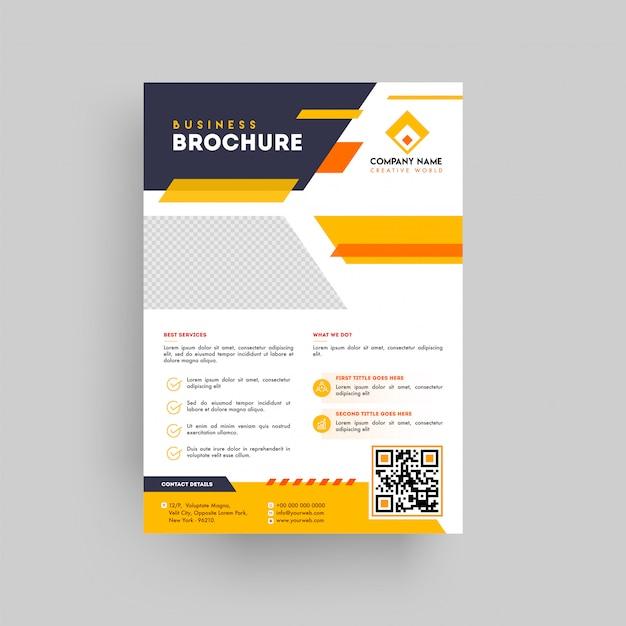 Brochure de présentation commerciale de style géométrique Vecteur Premium