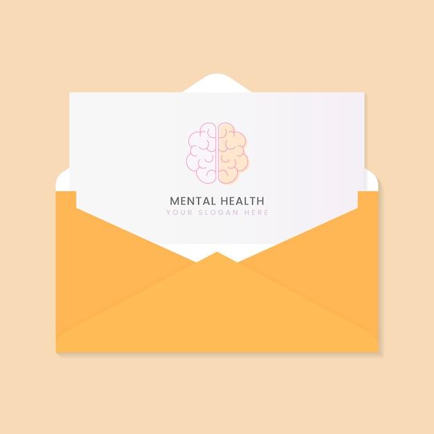Brochure publicitaire sur la santé mentale Vecteur gratuit