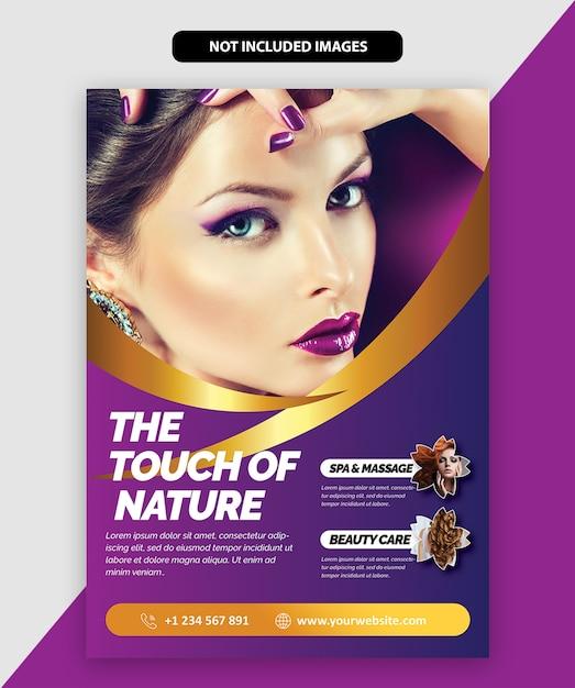 Brochure de salon Vecteur Premium