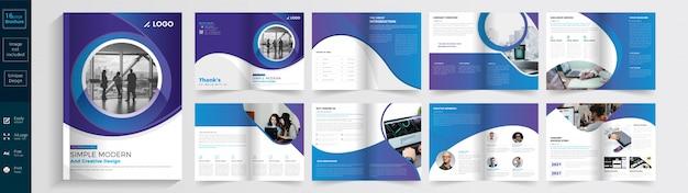 Brochure Simple, Moderne Et Créative. Vecteur Premium