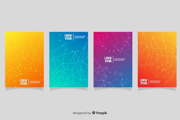 Brochure sur la technologie de gradient Vecteur gratuit