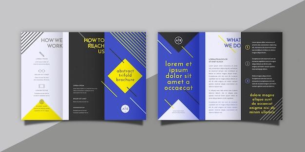 Brochure à Trois Volets Abstraite Avec Recto Et Verso Vecteur gratuit