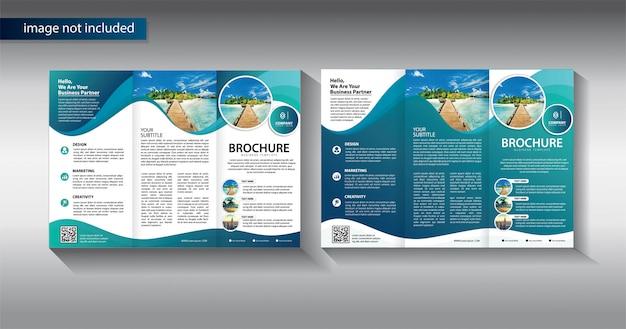 Brochure à trois volets pour modèle de promotion Vecteur Premium