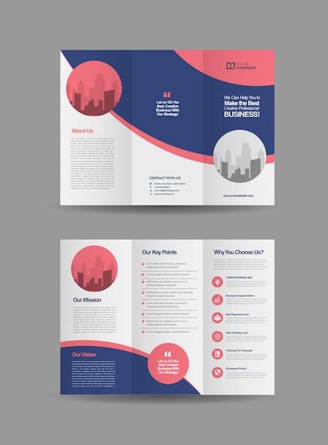 Brochure à trois volets professionnel Vecteur Premium