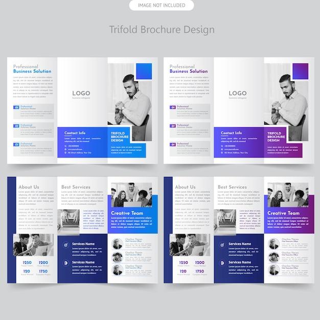 Brochure à trois volets de la société Vecteur Premium