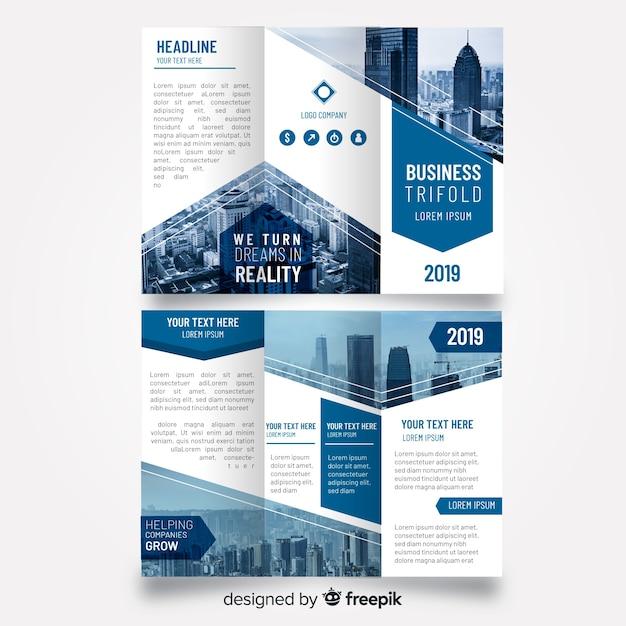 Brochure à trois volets Vecteur gratuit