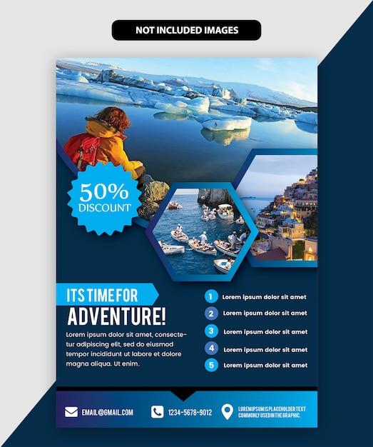 Brochure de voyage Vecteur Premium