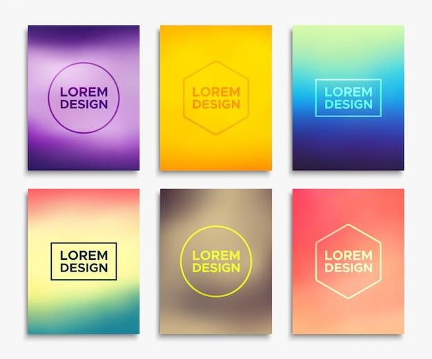 Brochures en format a4. bannières de vecteur Vecteur Premium