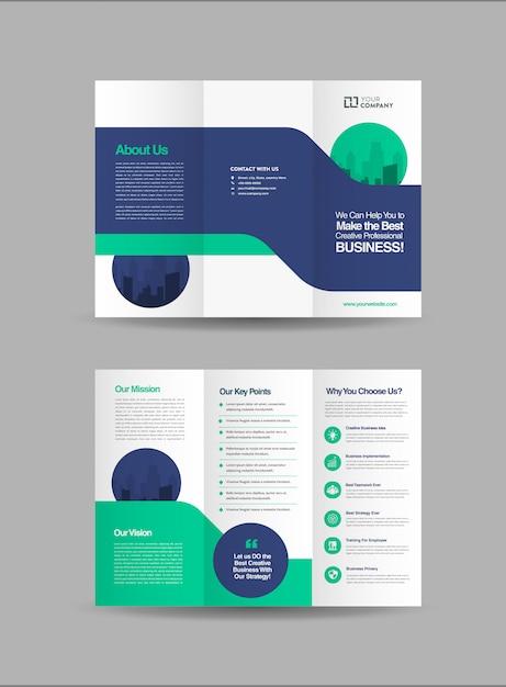 Brochures à trois volets Vecteur Premium