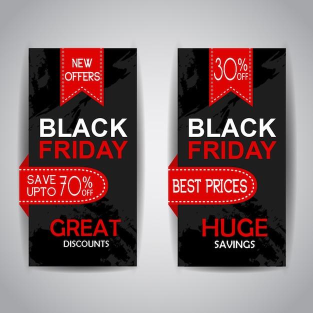 Brochures de vente du vendredi noir Vecteur gratuit