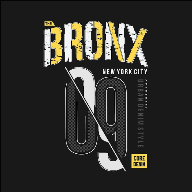 Le Bronx New York City Vecteur Premium